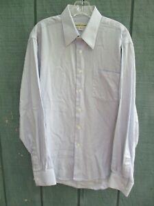 Pronto-Uomo-Men-039-s-Size-M-100-Cotton-Blue-Checks-Long-Sleeve-Button-Front-Shirt