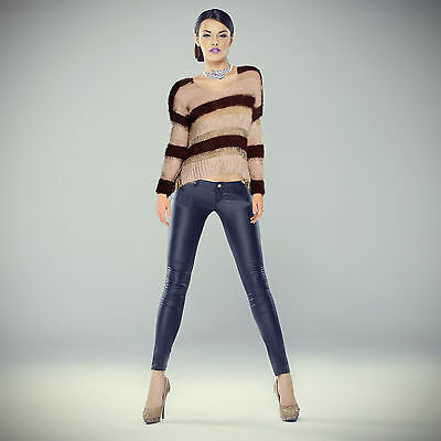 Cropped Striped Sweater  by Umgee USA