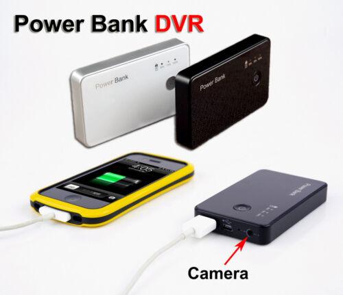 H.264 720P Spy Hidden Camera Motion Detection DVR Battery Power Bank Camcorder
