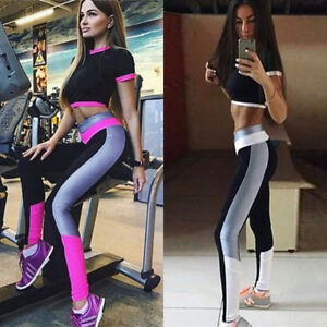 Women-Fitness-Yoga-Leggings-Running-Gym-Sports-High-Waist-Pants-Trousers-Hot
