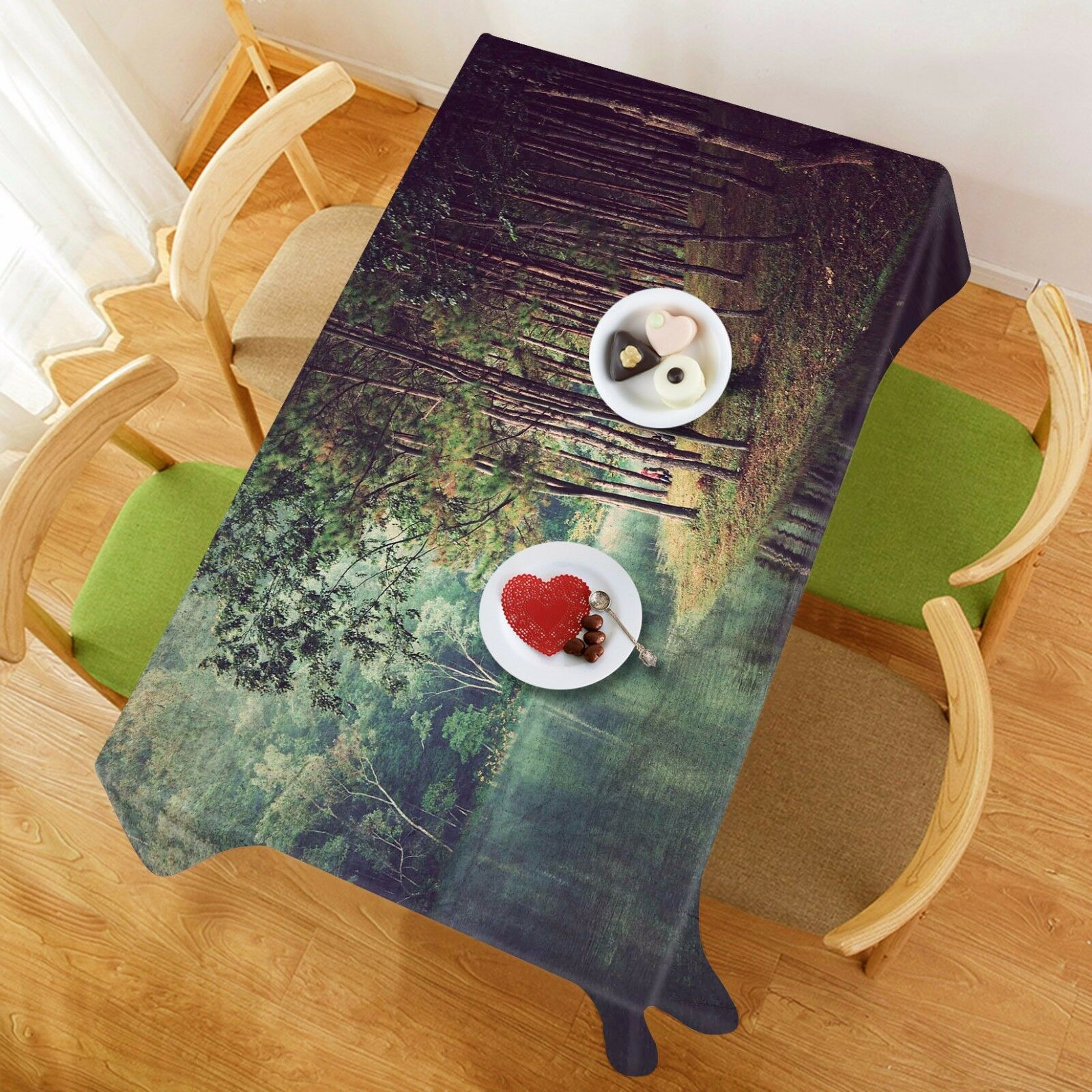 3D River 4675 Tablecloth Table Cover Cloth Birthday Party Event AJ WALLPAPER AU