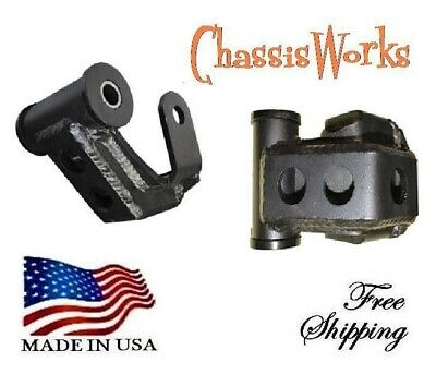 TS Fits Dodge Ram 2500 3500 Pickup Truck 94-02 Rear 2 Lowering Leveling Shackles 4wd for 3.5 wide leafs