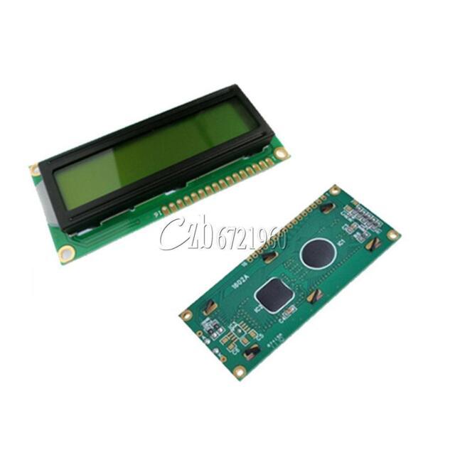 1602 16x2 HD44780 Character LCD Display Module LCM Yellow Backlight NEW