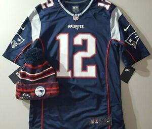 Details about COMBO Tom Brady Patriots New Blue Nike Game Jersey Men's Sz Medium & NEW ERA Hat