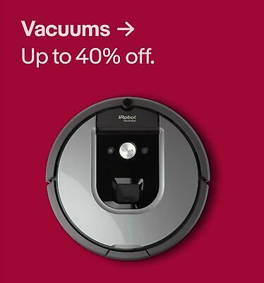 Vacuums up to 40% off.