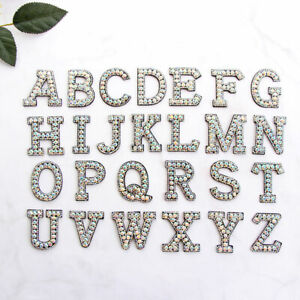 Iron On Letter I Embroidered Applique Craft Letters Stick On Letters DIY Fashion