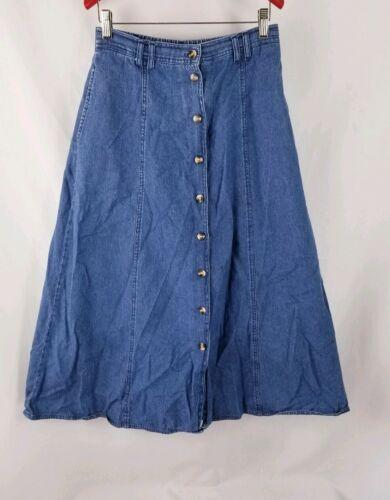 Willow Ridge Women's Denim Jean Skirt Button Front