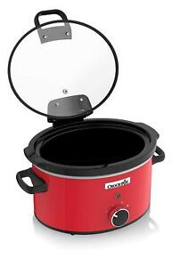 Small Kitchen Appliances Slow Cookers Crock-Pot 3.5L Red Hinged ...
