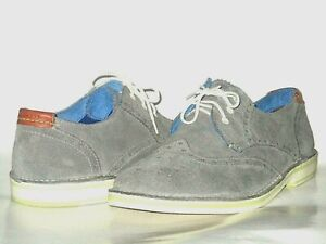 649ddf978 Ted Baker London Men s Jamfro Grey Suede Brogue Wingtip Oxford Shoes ...