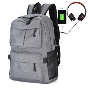 Mens-Travel-Backpack-15-6-Computer-Laptop-Backpack-School-Bag-Business-USB-Port