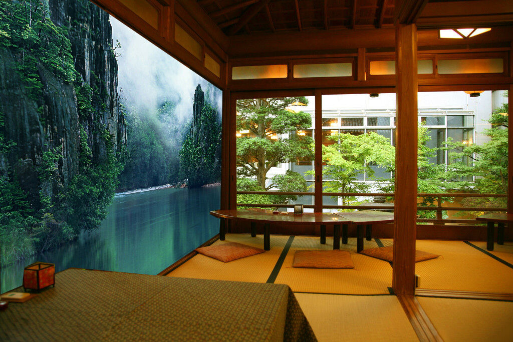 3D Grün Mountain Lakes Paper Wall Print Wall Decal Wall Deco Indoor Murals