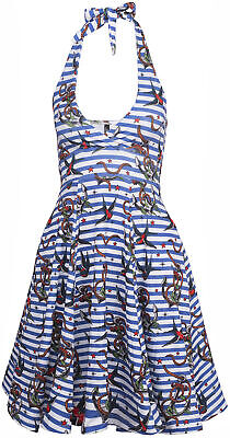 Liquor Brand MONROE Anker ANCHOR BIRDS Sailor Swing Mini DRESS Kleid Rockabilly