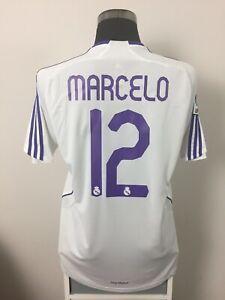 best service 1620f d1fb1 Details about MARCELO #12 Real Madrid Home Football Shirt Jersey 2007/08 (L)