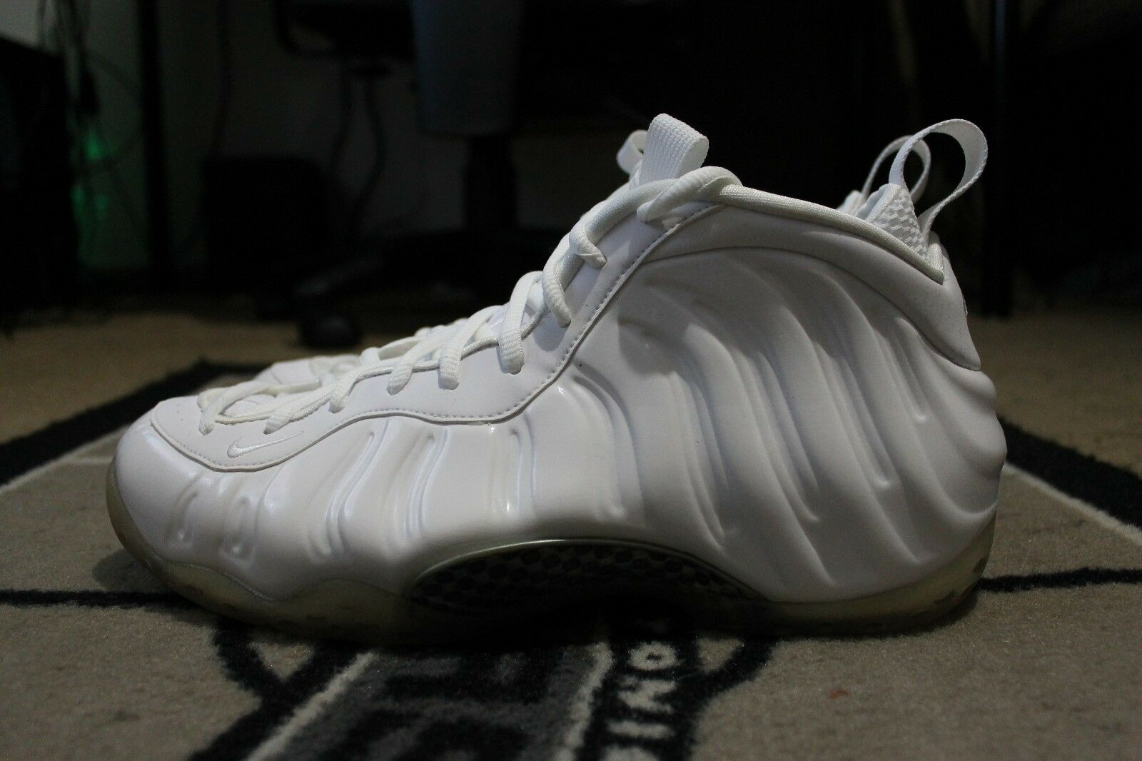 NEW NIKE AIR FOAMPOSITE ONE 1 PENNY WHITEOUT WHITE BLACK 314996-100 SZ 8