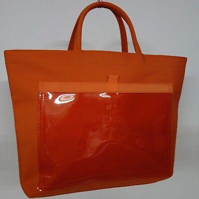 Damen HANDTASCHE Kosmetiktasche Badetasche Shopper Orange