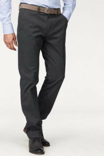 Pioniere pantaloni con cintura Robert k-gr.27-31 NUOVO UOMO SLIM GRIGIO SCURO EFFETTO LANA