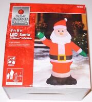 Gemmy SANTA 3ft 6in Tall LED Airblown Inflatable Lights Up, NEW