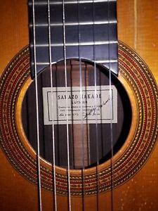 Sakazo Nakade Signé Guitare Classique Japon 1966-afficher Le Titre D'origine Correspondant En Couleur
