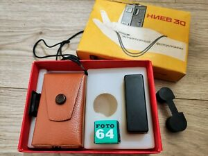 Kiev-30-Camera-Vintage-sowjetischer-russischer-UdSSR-SUB-Miniatur-SPY-KGB-16mm-Film-Box