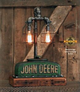 Details About Steampunk Machine Age Lamp John Deere Radiator Table Tractor