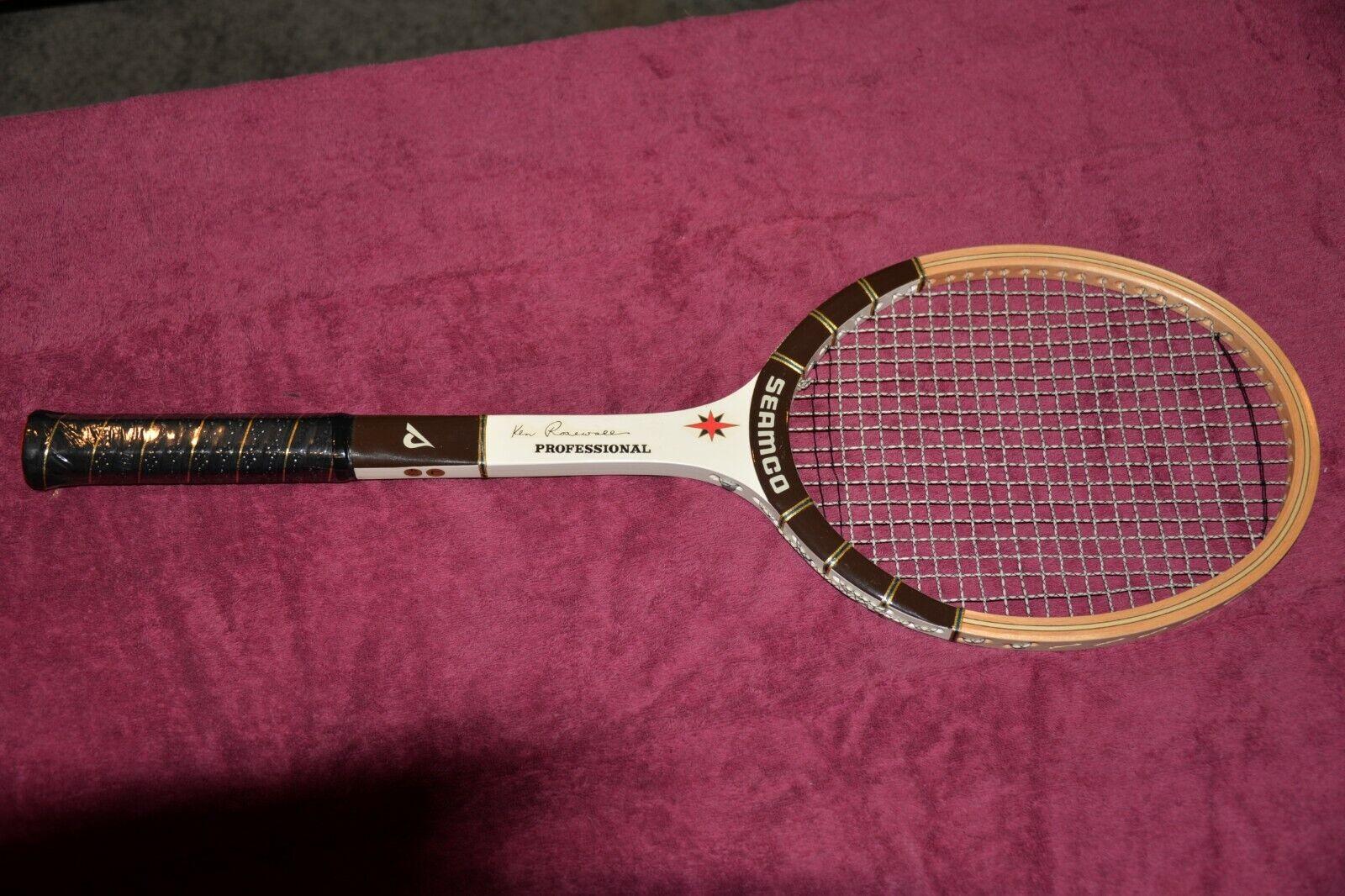 Ken rosadowell Vintage Raqueta De Tenis Madera nos envoltorio todavía en perfecto estado