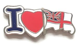 I Love The Royal Navy White Ensign - MOD Military Approved Navy Enamel Pin Badge