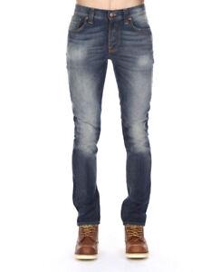 Nudie-Herren-Slim-Fit-Used-Look-Jeans-Hose-Grim-Tim-Organic-Lovely-Dust