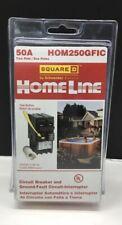 Square D Homeline Hom250gfic 50 Amp 2 Pole Gfci Circuit Breaker New