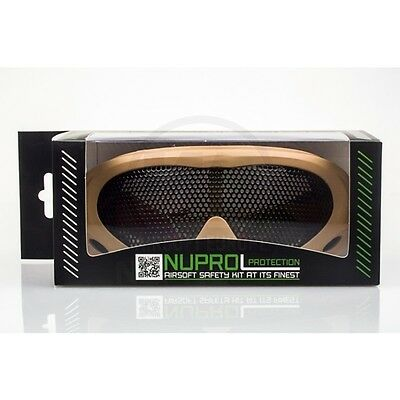 NUPROL PRO MESH EYE AIRSOFT PROTECTION GOGGLES - COYOTE TAN - TACTICAL GOGGLES