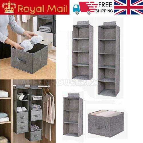 Tidy 3//4//5 Shelf Hanging Shoe Storage Rack Holder Stand Organiser Wardrobe Boxes