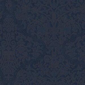 Wallpaper-Designer-Large-Blue-Damask-on-Dark-Blue-with-Gold-Ink-Outline