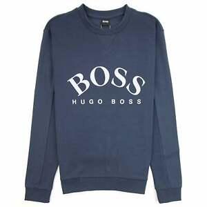HUGO BOSS SWEATSHIRT SALBO MENS KHAKI CREW NECK TOP