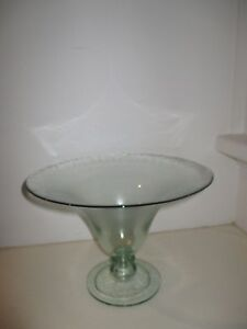 Hand-Made-Glass-Footed-Bowl-30cm-Diameter