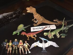 Vintage-Jurassic-ParcAssorted-Mixed-Dinosaurs-Toy-13-Figure-Lot