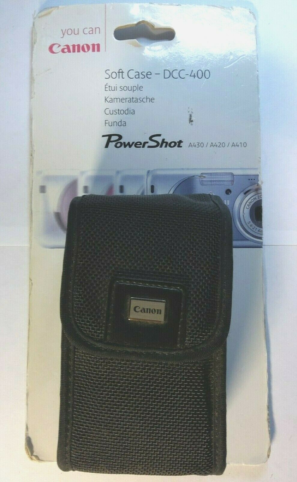 Cannon Soft Case DCC-400 for PowerShot A430 / A420 / A410 Will fit other brands
