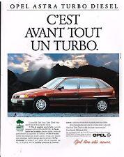 Publicité Advertising 1993 Opel Astra Turbo Diesel