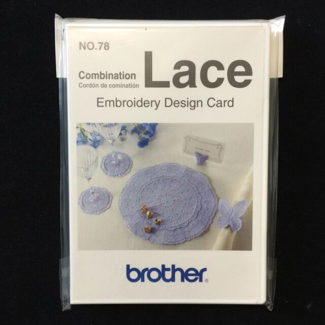 Embroidery Designs Card 78 Combination Lace For Deco Brother Baby