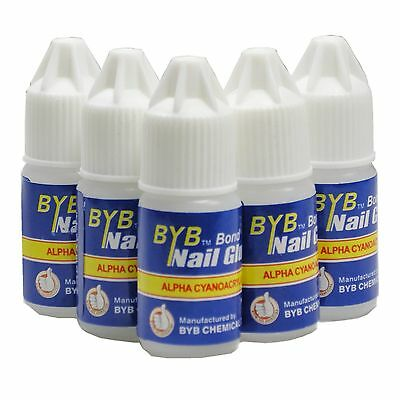 10 Pcs 3g BYB GLUE Pro for ACRYLIC NAIL ART TIPS Decoration Tools