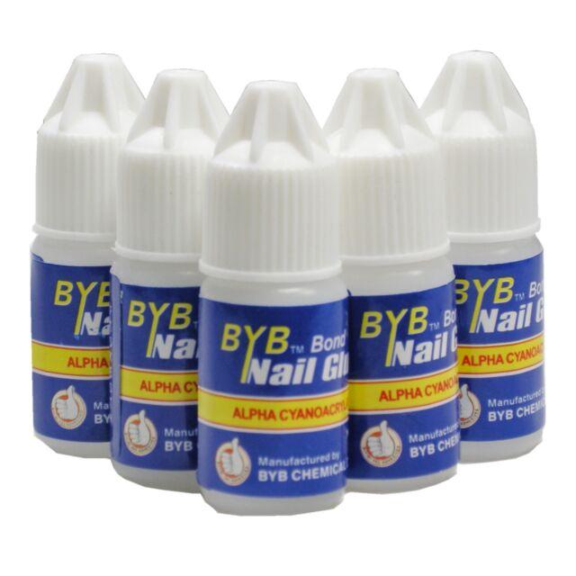 10 Pcs 3g BYB GLUE Pro for ACRYLIC NAIL ART TIPS Decoration Tools