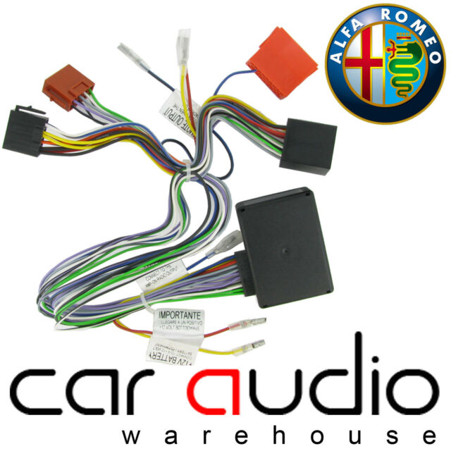 Alfa Romeo 159 2008 On Car Stereo Amplified Active Speaker Adaptor Bypass Lead