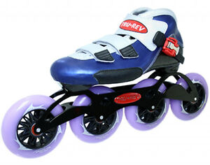Inlineskating-Artikel Inline Speed Skates TruRev w/ 105mm or 110mm wheels Size 10.5