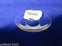 Glass Gold Ring Bobeche - Size 2 1/2 Diameter -