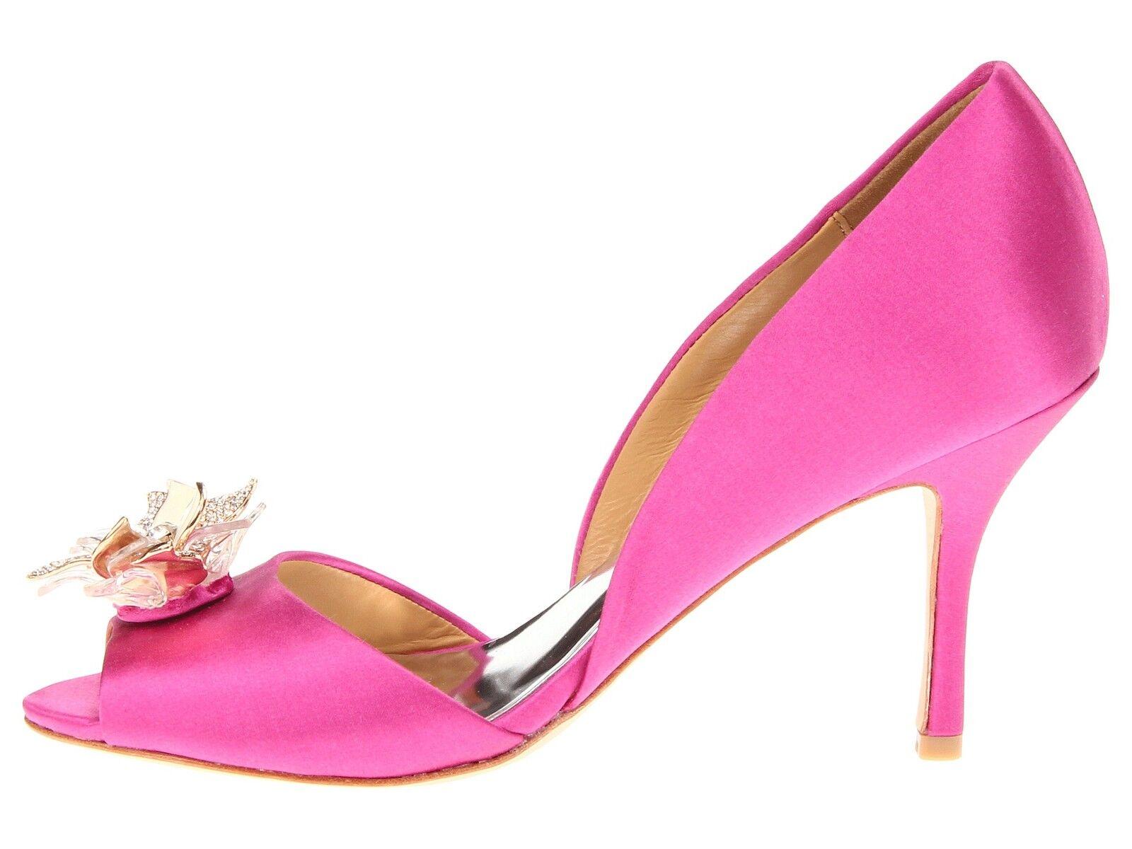 NIB Badgley Mischka Clarissa D'orsay open toe 7,5 pump heel sandals shoes 7,5 toe M ROSE 8281da