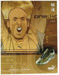 PUBLICITE ADVERTISING  2002   PUMA      BASKETS  ANELKA