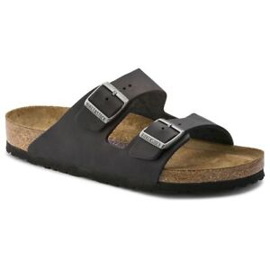 Birkenstock-Arizona-Classic-Sandals-Leather-Black-Soft-Footbed-Narrow