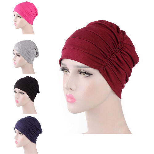 Women India Hat Muslim Ruffle Cancer Chemo Hat Beanie Scarf Turban Head Cap M HN