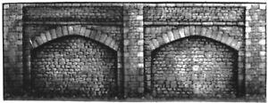 2-Embankment-Retaining-walls-380mm-110mm-Walls-L9-UNPAINTED-O-Scale-Models-Kit