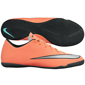 buy popular c594a c708f Details about Nike Mercurial Victory IV IC Indoor Soccer SHOES 2016 Brand  New Mango / Silver