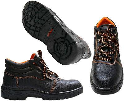 Para Hombre bases Tobillo formadores Botas De Seguridad Puntera De Acero de la PAC Excursionistas Zapatos Talla 6-12