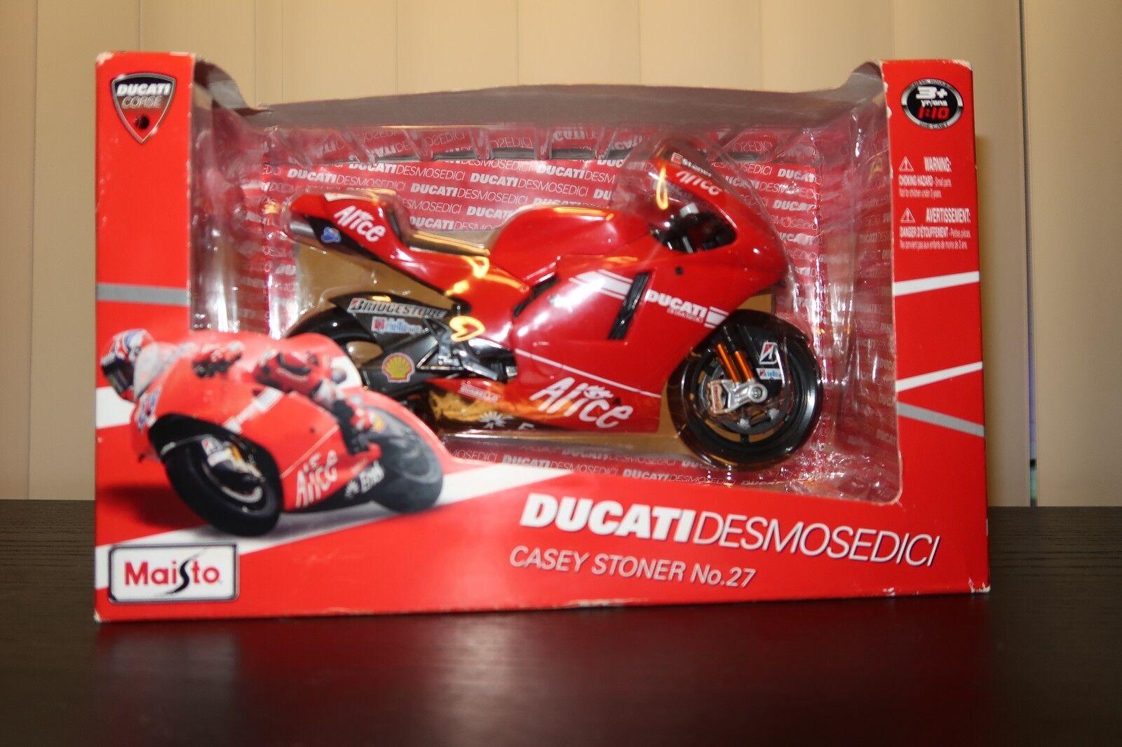 1 10 Scale Moto DUCATI DESMOSEDICI CASEY STONER No.27 diecast diecast diecast (2009) Maisto acca0a
